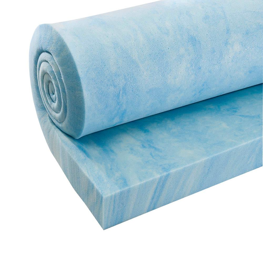 Gel-infused quilting foam provides a soft, quiet feel and has excellent cooling properties